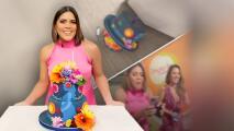 """""""¡Mi cake!"""": el pastel de cumpleaños de Francisca sufre un accidente y termina en el piso"""