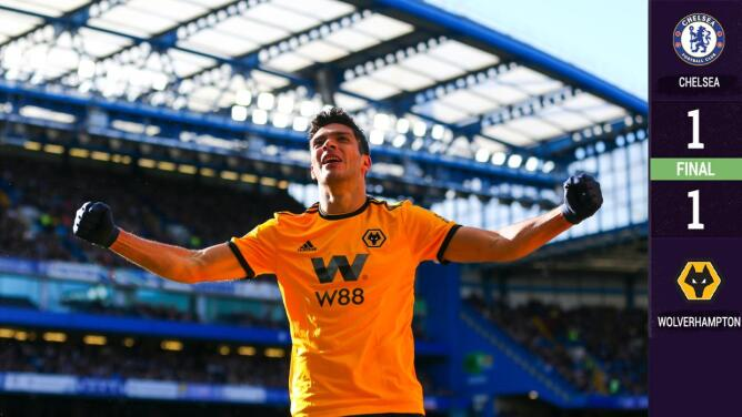 Raúl Jiménez aulló en Londres pero Hazard estropeó la fiesta del Wolverhampton