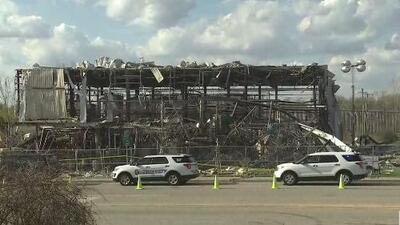 Reinician el proceso de remoción de los escombros tras la explosión en una fábrica de Waukegan