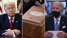 Biden elimina un botón rojo del despacho oval que Trump apretaba muchas veces al día