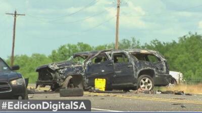 Cinco inmigrantes mueren en un accidente vial en Big Wells