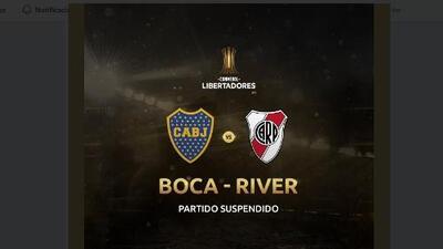 Será mañana a las cuatro de Argentina: se suspendió el Boca-River de Libertadores hoy