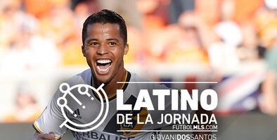 Giovani dos Santos del LA Galaxy es elegido por la afición como el Latino de la Jornada 7