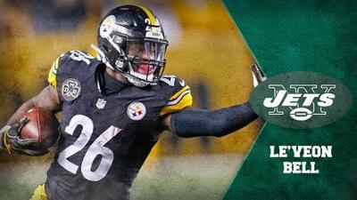 Le'Veon Bell deja a los Steelers y vuela a los Jets