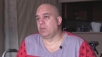 El drama que vive un cubano de 42 años que sufre del síndrome Guillain-Barré y no tiene seguro social