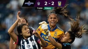 Tigres impide la hazaña a Rayadas con gol sobre el final