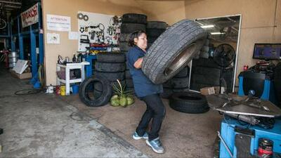 Cornered by Trump: An undocumented woman hopes to save her family's tire shop, alone and with an ankle monitor
