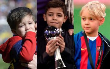 Los niños del fútbol: la infancia de los herederos de los cracks a nivel mundial