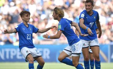 En fotos: Italia se unió a la fiesta de los Cuartos de Final del Mundial Femenino