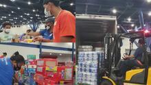 Ayudas recolectadas en Houston para los afectados por el huracán Laura están listas para ser distribuidas