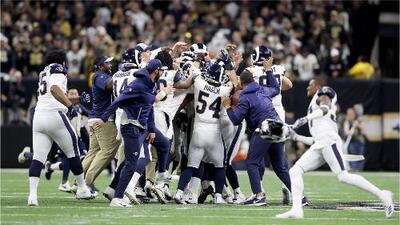 Los Rams de Los Ángeles jugarán el Super Bowl ante los Patriots de Nueva Inglaterra