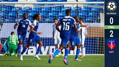 Nicaragua no pudo con la contundencia de Haití, la cenicienta de la Copa Oro