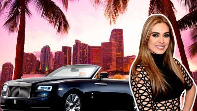 ¿Es Galilea Montijo la dueña del Rolls Royce en el que se paseó por Miami?