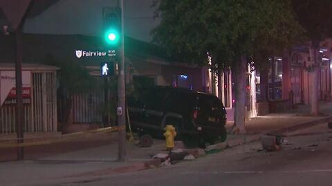 Persecución policial en Inglewood termina en un choque múltiple que involucró a personas inocentes