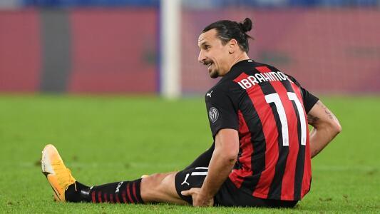 Ibrahimovic será baja en el Milan por casi tres semanas