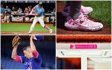 Las Grandes Ligas se pintaron de rosa por el Día de las Madres
