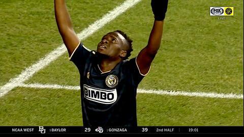 El ghanés David Accam encaminó la victoria de Philadelphia Union con un mágico doblete