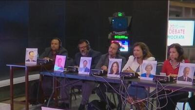 Estas son las caras detrás de las voces en español de los precandidatos demócratas que esta noche se enfrentarán en el debate en Houston