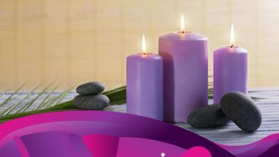 El significado de las velas moradas