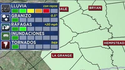 Servicio Meteorológico Nacional emite advertencia de riesgo de tiempo severo para el norte de Houston