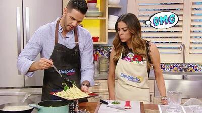 Lourdes Stephen no podía creer lo fácil y rápido que es preparar este fetuccini con brócoli y tocino