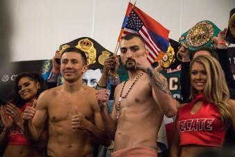 En fotos: Golovkin y Martirosyan libran la báscula y se alistan para el Cinco de Mayo