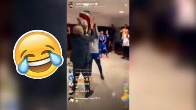 Billy Álvarez se quitó el traje de seriedad y se puso a bailar tras el título en Copa