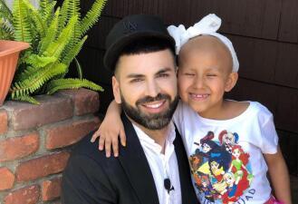 En fotos: Así cumplió Jomari Goyso el sueño de una niña enferma de cáncer