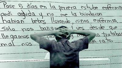 No se bañan, los maltratan y duermen en el suelo: testimonios a puño y letra de los niños migrantes en las 'hieleras'