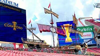 Conoce el barco pirata construido por Disney que adorna el estadio de Tampa