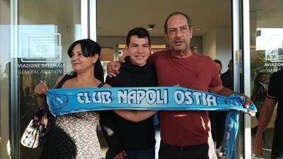 """Chucky llega a Roma entre gritos de """"¡Forza Napoli!"""""""