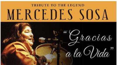 Este fin de semana se celebrará un homenaje para la cantante de música folklórica, Mercedes Sosa