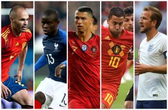 ¡Mucha calidad! El XI Ideal de Europa en el Mundial de Rusia 2018