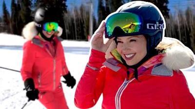 Thalía vence el miedo y cuenta la razón de por qué dejó de esquiar hace casi 13 años