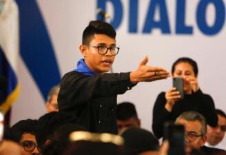 En fotos: Lesther Aleman, líder estudiantil nicaragüense de 20 años
