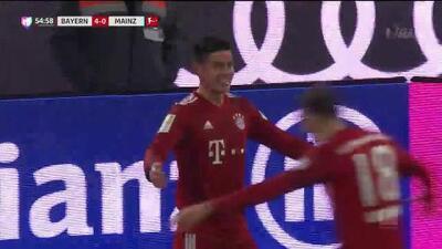 ¡GOOOL! James Rodríguez anota para FC Bayern München