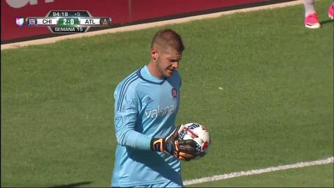 Pase de Miguel Almirón,que marca el gol