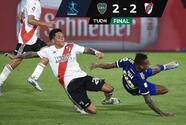 Boca y River aprovechan expulsiones y empatan en la Copa Maradona