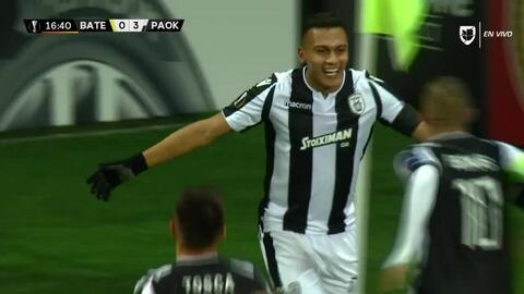 ¡GOOOL! Leo Jabá anota para PAOK Salonika