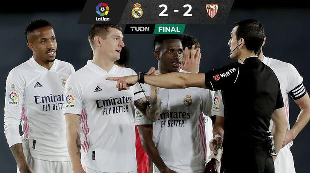 Real Madrid empata ante Sevilla y se le escapa el liderato