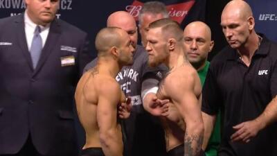 Conor McGregor y Eddie Alvarez superaron la báscula para el UFC 205