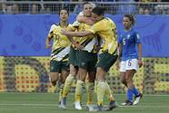 Australia da la campanada del Mundial femenil tras derrotar a Brasil