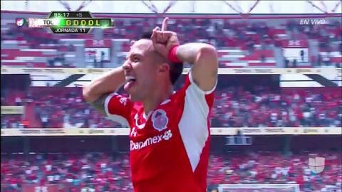 ¡GOOOL! Rodrigo Salinas anota para Toluca