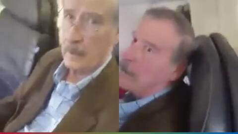 """(Video) """"Maldito"""" y ratero: mira como Vicente Fox es atacado en un vuelo"""