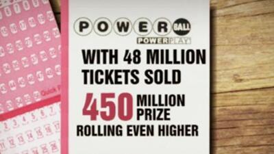 El premio gordo del Powerball asciende a $450 millones de dólares