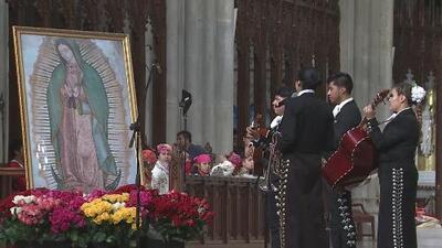 Con el canto de 'Las Mañanitas', se dio inicio a los festejos a la Virgen de Guadalupe en Nueva York