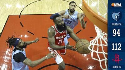 ¡Imparable! James Harden rompe récord de Kobe Bryant en triunfo de Rockets sobre Grizzlies
