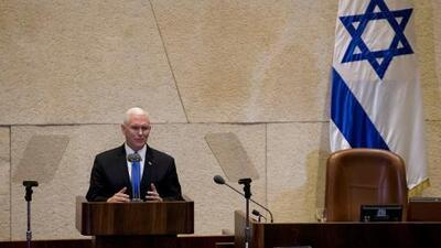 Pence anuncia que la embajada estadounidense se abrirá en Jerusalén en 2019