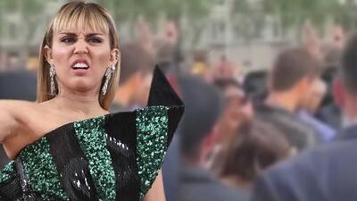 En video: Miley Cyrus fue sorprendida por un fanático que intentó besarla a la fuerza