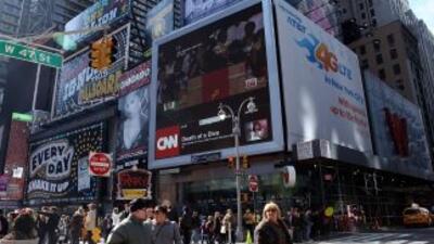 Motocicleta causa pánico en Times Square